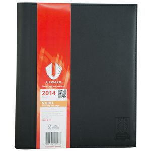 UPWARD NOBEL A4 TOP OF THE RANGE DESK DIARY ONE DAY PER PAGE BLACK
