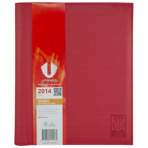 UPWARD NOBEL A4 TOP OF THE RANGE DESK DIARY ONE DAY PER PAGE RED