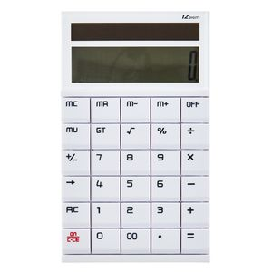 X Desk Calculator 12 Digit Display White