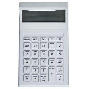 X Desk Calculator 10 Digit Display White