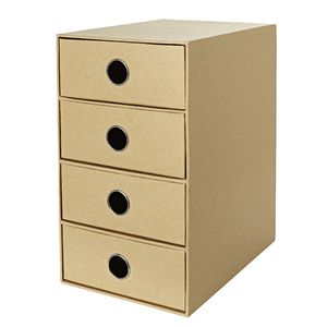 X Storage Drawers 4 High Kraft