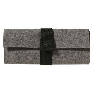 X PET Recycled Rollup Pencil Case Grey