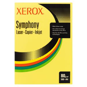 Fuji Xerox Symphony Dark Tints Copy Paper 80gsm A4 Yellow