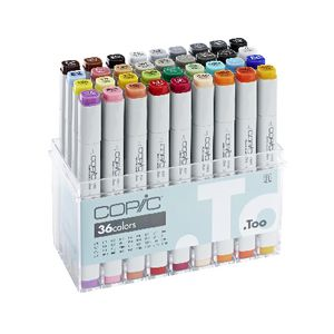 Copic Markers Assorted Colours 36 Pack