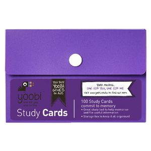 Yoobi Study Cards in Box 100 Pack Purple