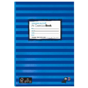 Yoobi A4 Exercise Book Stripe Blue128 Page