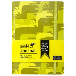 Yoobi A5 Hard Cover Journal Camouflage Green 72 Page
