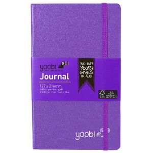 Yoobi Medium PU Hard Cover Journal Purple 80 Page