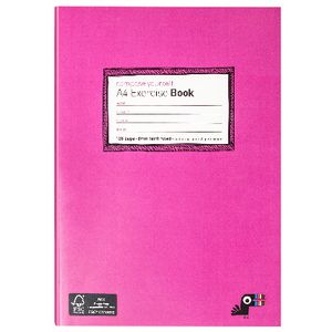 Yoobi A4 Exercise Book Pink 128 Page