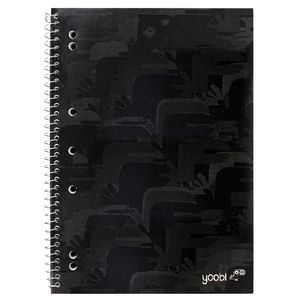 Yoobi A4 Spiral Notebook Camouflage Black 100 Page