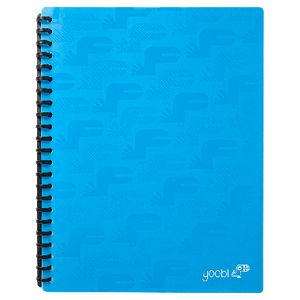 Yoobi Display Book A4 20 Pocket Blue