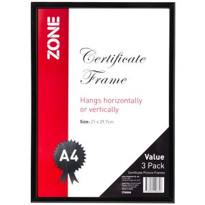 Zone A4 Document Frame Pk/3