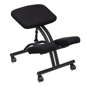 ZONE Hardware Adjustable Kneeling Stool Black