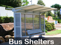Steel Post & Rail - Bus shelters