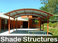 Steel Post & Rail - Shade Structures