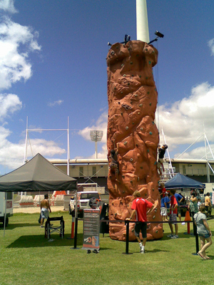 amusement rides Brisbane - Sydney for hire mobile rock climbing wall