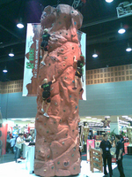 Mobile Rock Climbing Wall inside corporate event