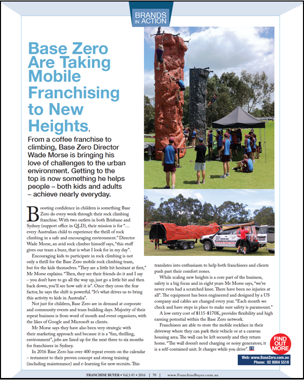 Base Zero Are Taking Mobile Franchising to New Heights