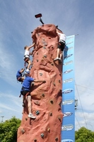 rock climbing wall at corporate events / expo