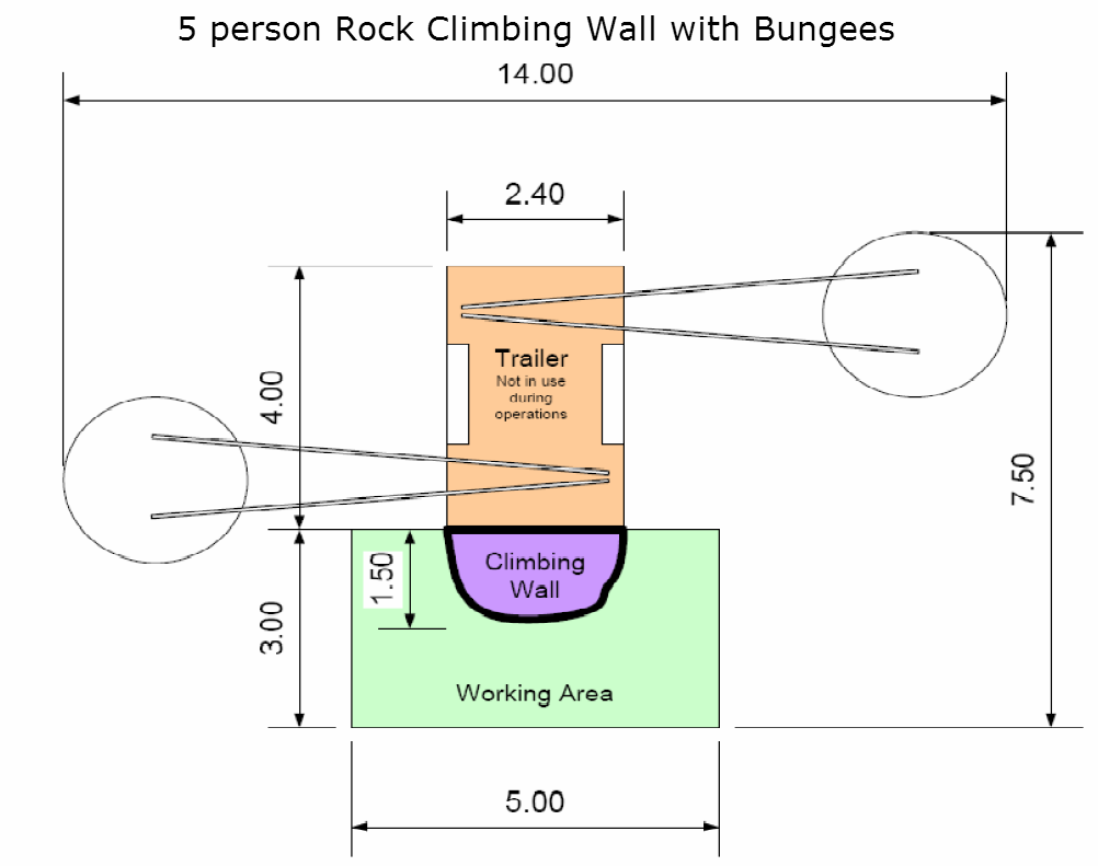 5 climber with bungee set-up area needed