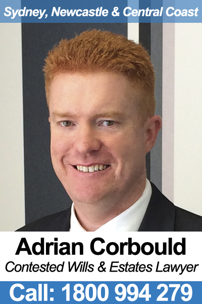 Adrian Corbould - Contested Wills Lawyer in NSW