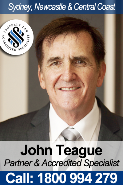 Conveyancing and Property Law Specialist - John Teague - Turnbull Hill Lawyers in Newcastle