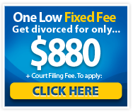 Low Cost Divorce, Only $880