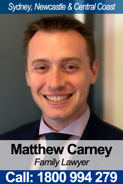 Matthew Carney - Children Family Lawyer in NSW
