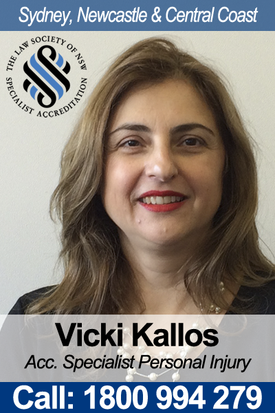 Vicki Kallos Personal Injury Accredited Specialist
