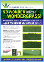 artificial grass or synthetic grass pamphlet