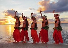 Cultural performance in beautiful Rarotonga