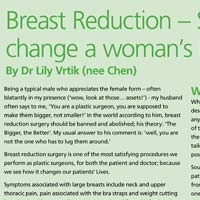 Breast Reduction - Surgery that can change a woman's life