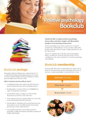 Positive Psychology Bookclub Flyer