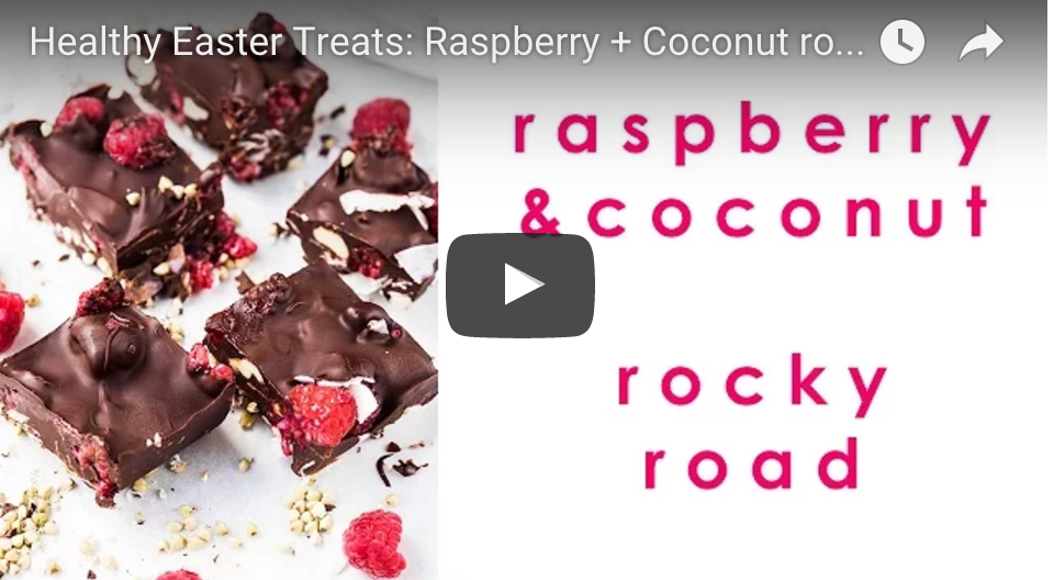 healthy easter treat chocolate rocky road
