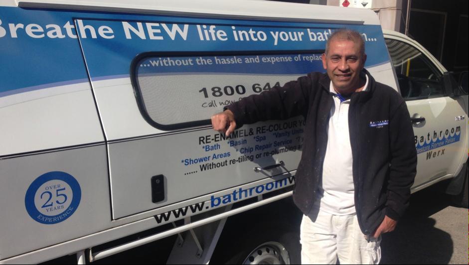 Melbourne outer-region bathroom resurfacing technician