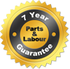 7 Year Parts & Labour Guarantee