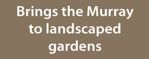 brings the murray to landscaped gardens