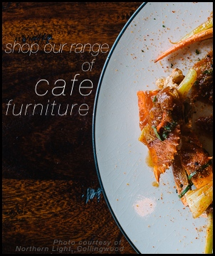 cafe furniture restaurant bar tables chairs seating timber hardwood solid commercial banner