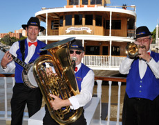 Live Jazz on board every weekend lunch cruise, Kookaburra Showboat Cruises
