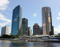 Sensational city views of Brisbane from Kookaburra Queen lunch cruise