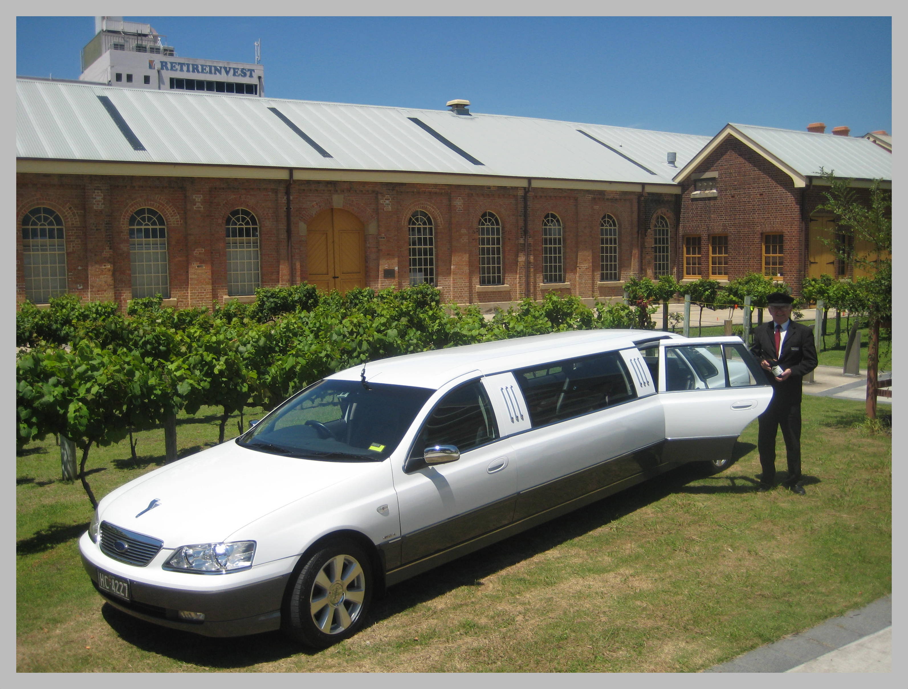 Limo for our winery tour from Newcastle