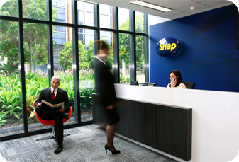 Snap Head Office reception desk