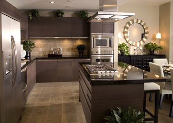 Coloured Stainless Steel Kitchen
