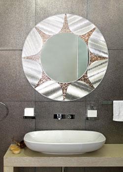 Ornate Bathroom Mirror Beach Themed