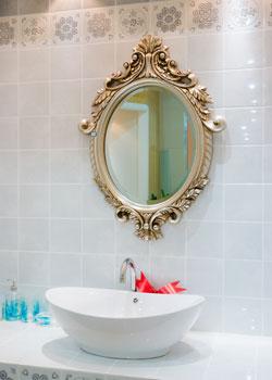 Ornate Bathroom Mirror Classic