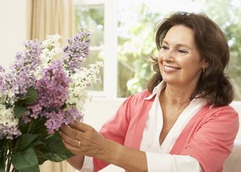 Lady Arranging Flowers