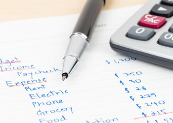 Handwritten budget