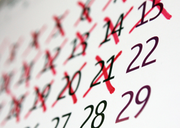 Crossed Off Days On Calendar