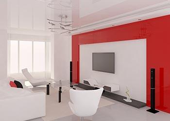 Colour Scheme Red Theme Lounge Room