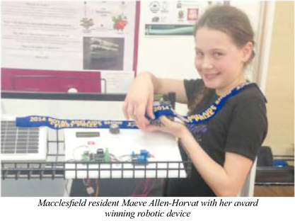 12 year old Scotch College student and Macclesfield resident Maeve Allen-Horvat